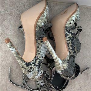 Zara Shoes - MOVING SALE Zara Snakeskin Heels